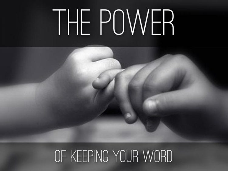 keep your word